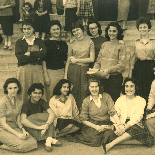 Class of ACG 61, first day of Freshman year, 1957